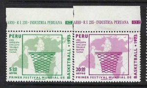 PERU C379-71 MNH BASKETBALL 807D