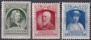 Liechtenstein  #90-2  F-VF Unused    CV $2.80 (Z3160)