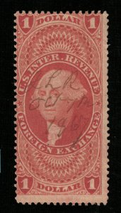 1862 U.S. Inter. Revenue Foreign Exchange $1 Dollar (TS-363)