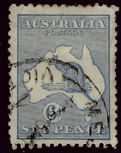 Australia SC#8 Used F-VF hr SCV$27.50...Grab a Bargain!