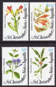 St Kitts Nevis 380-383 Flowers MNH VF