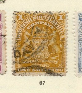 Rhodesia 1900s Early Issue Fine Used 1S. NW-170441