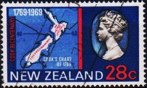 New Zealand. 1969 28c S.G.909 Fine Used