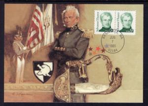 US 1852 Sylvanus Thayer Fleetwood Unicover Maxi Card U/A FDC
