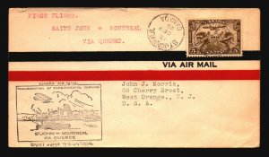 Canada 1929 FFC - St John to Montreal - Z16686