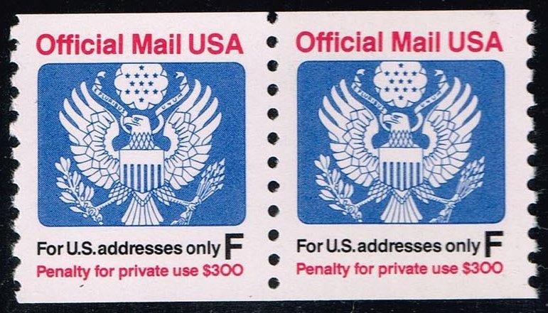 US #O144 Official Mail Coil Pair; MNH (1.60)