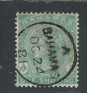 BAHAMAS 1863-80 1s GREEN FU SG 39b CAT £30