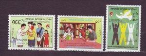 J23453 JLstamps 1988 laos set  mhr #899-901 designs