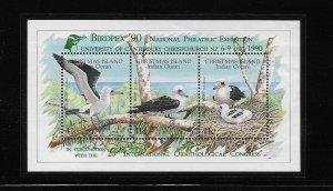 BIRD - CHRISTMAS ISLAND #274e  BIRDPEX '90   MNH