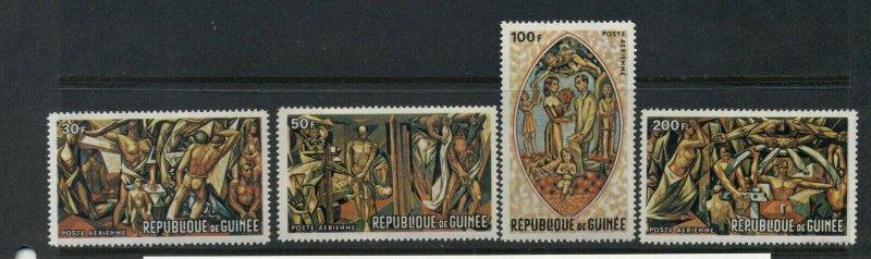 Guinea 1969 Murals set #C94-99 VFMNH CV $3.45