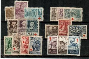 Finland Scott B9 // B144 Mint hinged semi-postal sets (Catalog Value $56.10)