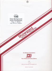 Showgard Stamp Mount Size 198 / 264 Strip CLEAR (5) (198mm 198x264)