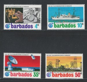 Barbados MNH 368-71 Centenary Of Telecommunications 1972