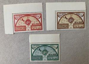 Somalia 1949 UPU, MNH, light toning on back of C36.  Scott C34-C36, CV $6.75