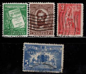 Uruguay Scott 534-537 Used 1945 set
