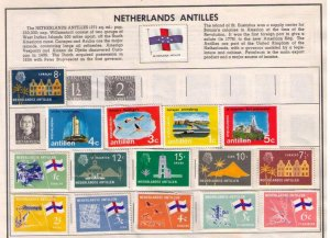Netherlands Antilles 15 ea (CURACAO) 1958-1965 Scott 295-300 On Mint Harris Page