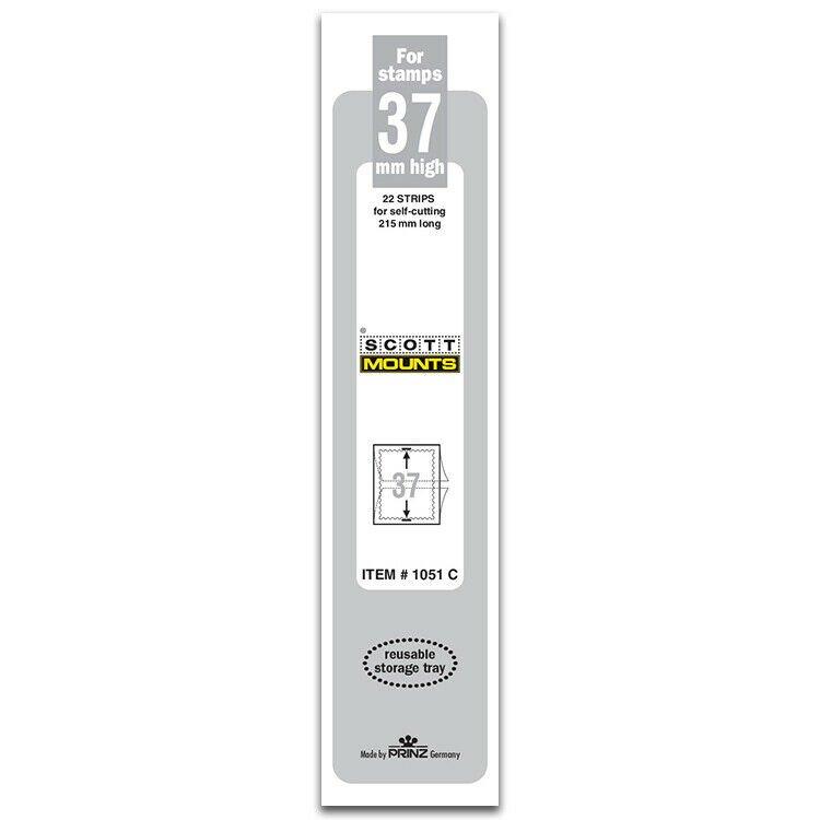 Scott/Prinz Pre-Cut Strips 215mm Long Stamp Mounts 215mmx37mm #1051 Clear