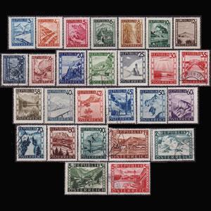AUSTRIA 1945 - Scott# 455-81 Scenic Mixed Set of 27 NH