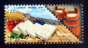 BOSNIA & HERZEGOVINA / 2017, GASTRONOMY (Travnik Cheese), MNH
