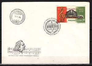 Hungary, Scott cat. 2385. Composer Franz Liszt, IMPERF issue. First day cover.
