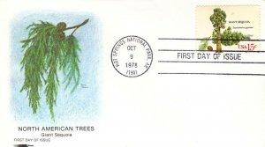 US FDC #1764 Tree, Softones (17596)