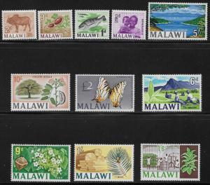 MALAWI SC# 41-51  FVF/MOG 1966-7