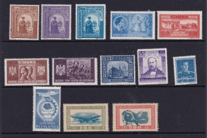 Romania a small mint lot from early 1940's mainly