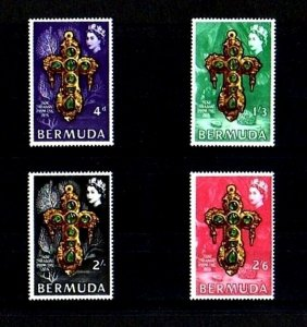 BERMUDA - 1969 - QE II - TREASURE - GOLD & EMERALD CROSS - MINT - MNH SET!