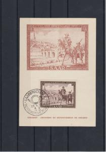 Germany Saar 1951 Stamp Day Postcard CAT£30+ Ref: R4485