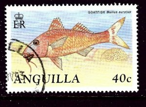 Anguilla 798 Used 1990 Fish    (ap4168)