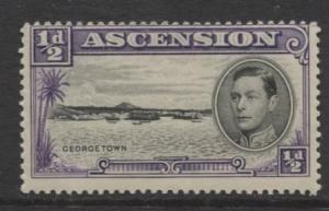 ASCENSION- Scott 40 - Georgetown -1944 - MLH - Single 1/2d Stamp