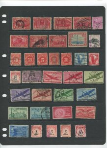 STAMP STATION PERTH USA Early Selection of 35 Stamps Unchecked Mint /Used-Lot 31