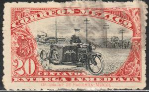 MEXICO E1 20cts Motorcycle. Special Delivery unwmkd Used. F-VF. (259)