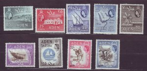 J23601` JLstamps various 1953-9 aden part of set mh #50-up w/perf variations