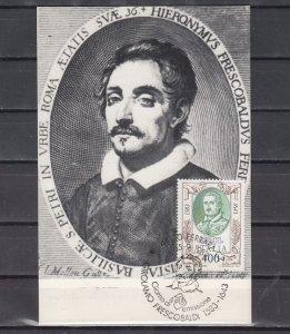 Italy, Scott cat. 1564. Composer G. Frescobaldi issue. Max. Card. ^