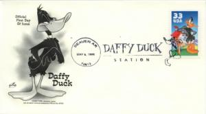 1999 Daffy Duck Beaver Arkansas Pictorial Cancel