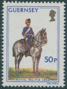 Guernsey 1974 SG112 50p Militia MNH