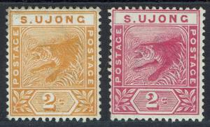 S' UJONG 1891 TIGERS 2C BOTH COLOURS