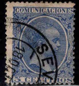 SPAIN Scott 257 Used blue stamp