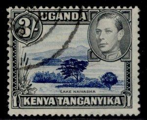 KENYA UGANDA TANGANYIKA GVI SG147ac, 3s deep violet-blue & black, FINE USED.