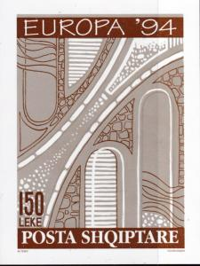 Albania 1994 150l Sketch of a Road Project  VF/NH