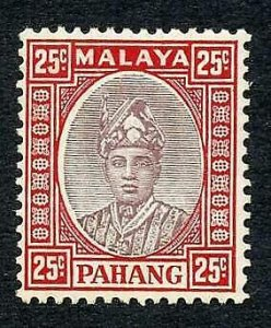 Pahang SG40 25c Dull purple and scarlet very Fresh M/M