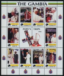 Gambia 2223-8 MNH Pope John Paul II, Papal Visits, Africa, Europe