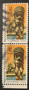 C84 Hawaii Natl. Parks, circ. pair, tagged, Vic's Stamps Stash