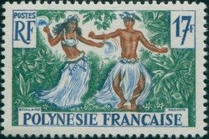 French Polynesia 1958 Sc#194,SG11 17f Tahitian Dancers MLH