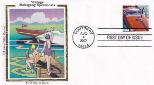 2007, Mahogany Speedboat-1931 Gar Wood, Colorano Silk, FDC (E12275)