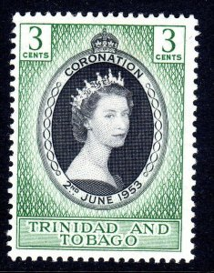 TRINIDAD  AND TOBAGO  --  1953    coronation  lmm