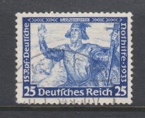 Germany Sc B56 used. 1933 25pf+15pf ultra Lohengrin, perf 13x13, sound