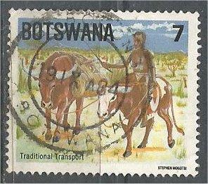 BOTSWANA, 1984, used 7t,  Man riding ox Scott 345