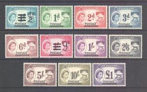 Nyasaland Scott 112/122 - SG188/198, 1963 Elizabeth II Set MH*